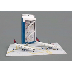 Delta Airlines 2 Plane Airplane Set – 8cm Toy