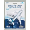 Boeing 787 Pullback Toy W/LIGHT & Sound