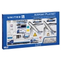 United 24 Piece Airport Playset in New Livery